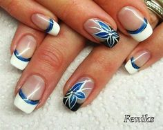 Flower by FeniksVarazdin from Nail Art Gallery - Beauty Colorful Nail Designs, Cute Nail Designs, Nail Art Hacks, Gel Nail Art, Hot Nails, Hair And Nails, Fancy Nails, Pretty Nails, Nails Only