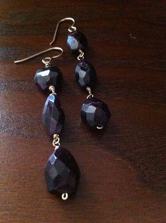 Triple garnet earring Garnet Earrings, Drop Earrings, Jewelry, Jewlery, Jewerly, Schmuck, Drop Earring, Jewels, Jewelery