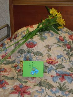 "(give nursing home residents a flower with a simple ""hello"" and/or picture) Service Birthday Party for Kids: Operations Secret Smiles - Pennies Of Time: Teaching Kids to Serve"