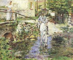 File:Theodore Robinson (1852-1896) - Père Trognon and His Daughter at the Bridge (1891)