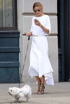 Olivia Palermo In all white