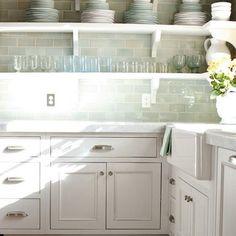 White sea glass tile backsplash kitchen | Sea Glass Tile Backsplash Design, Pictures, Remodel, Decor and Ideas ...