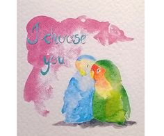 Don't you want to sing a love song to your precious one? This is a valentine card made from a watercolor painting.