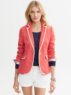 Banana Republic | Tipped one-button blazer