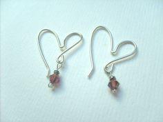 Heart earrings. September 2013 Ongoing Pinterest Swap