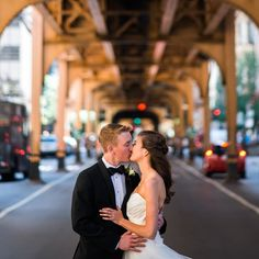 Kathleen & Conor's downtown wedding showcased the city perfectly. For more click the link in the profile.  Reception: @allegrochicago; Photography: @stevescap; Bride's Gown: @macysbridalsalon; Hair & Makeup: @robertjeffreyhairstudio; Formalwear: @menswearhouse; Bridesmaids' Dresses: @bhldn; Stationery: @carlsoncraft; Catering: @allegrochicago; Floral & Décor: @carouselflowershop; Cake & Sweets: @westtownbakery; Entertainment: @toastandjamdjs; Transportation: #trolleycarandbusco