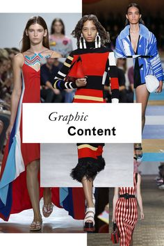 The 11 Runway Trends of Spring 2017. #2 Bold and Graphic.  Note: Primary colors, and black details.