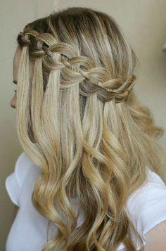 Flechtfrisuren Lange Haare Wasserfall