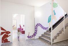 Kita Sinneswandel by Baukind   News   Frameweb --- Larger than Life Animal Murals Guide Kids Through Berlin Kindergarten
