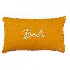 Coussin déhoussable coton imprimé Bali (Ocre) - Homemaison : vente en ligne coussins standards Bali, Cycle, Point, Polyester, Dimensions, Composition, Color, Products, Splash Of Colour