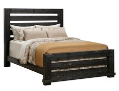 Slumberland | Willow Collection - Black King Slat Bedstead Black King, Bed Slats, White Queen, Industrial Furniture, Bedroom Furniture, Boudoir, Bed Room, Bedroom Ideas, Kid