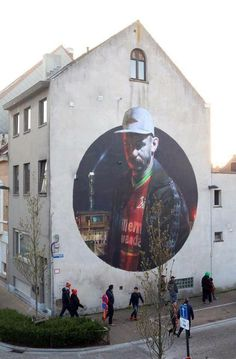 Ostend, Belgium: new piece by Spanish street artist Sebas Velasco for The Crystal Ship festival.