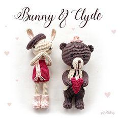 Bunny & Clyde • Amigurumi Dolls • Crochet pattern by Polaripop (DE, EN)