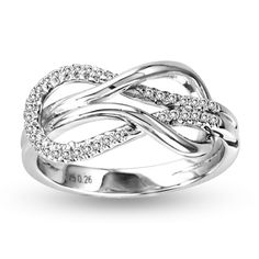 Sterling Silver Infinity Diamond Ring love it Bling Bling, Jewelry Rings, Jewelry Accessories, Jewellery, Jewelry Box, Vintage Jewelry, Fashion Rings, Fashion Jewelry, Charms