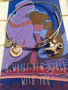 A whole new world, charm Bangle Bracelet, Adult size, Alladin Themed Bracelet by FairytaleBangles on Etsy https://www.etsy.com/listing/476205797/a-whole-new-world-charm-bangle-bracelet