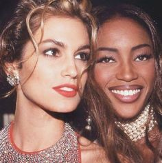 """Cindy Crawford, Claudia Schiffer and the famous """"trinity"""": Linda Evangelista, Naomi Campbell and Christy Turlington, ruled the catwalks of the early Nineties alongside a couple of other top models - including Tatjana Patiz and Nadja Auermann. Linda Evangelista, Christy Turlington, Cindy Crawford, Frances Bean Cobain, Stephanie Seymour, Spice Girls, Keanu Reeves, Eminem, Fashion Week"""
