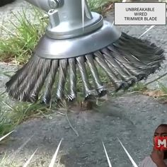 garten videos Tired of your trimmer being too weak to cut tough weeds Replace your trimmer head with the Break Proof Steel Trimmer Blade that slices through grass, branches, weeds super FAST! Outdoor Projects, Garden Projects, Garden Tools, Garden Ideas, Cool Gadgets To Buy, Diy Home Repair, Lawn And Garden, Backyard Landscaping, Backyard Patio
