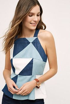 patchwork denim halter top - Google Search
