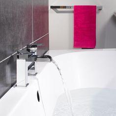 Vellamo Reve Waterfall Bath Mixer Tap | Tap Warehouse Bathroom Taps, Modern Bathroom, Bath Mixer Taps, Tap Tap, 5 Bar, Water Systems, Bath Time, Chrome Plating, Warehouse