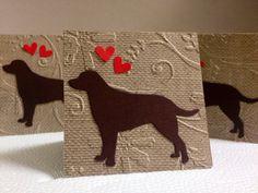 Blank Mini Cards Valentines Day Card Labrador by SavvyCardShop