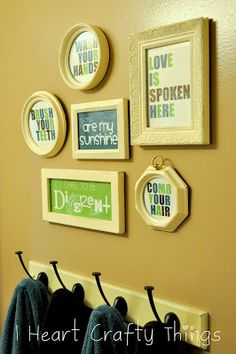 I have been super surprised at how many emails I have had the past couple weeks for the bathroom printables I made for my kids bathroom re-do last summer. In an effort to make it a Bathroom Printables Free, Decor, Yellow Bathrooms, Bathroom Redo, Bathroom Makeover, Refinish Bathtub, Bathroom Printables, Bathroom Kids, Kids Bathroom Makeover