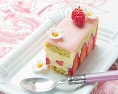 Un fraisier aux parfums japonisants: yuzu et matchs s'allient à la fraise pour un dessert tout en fraîcheur et gourmandise.