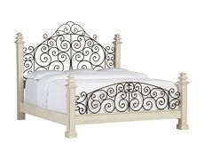 Southport King Poster Bed - Distres...