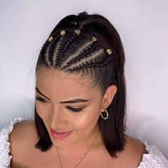 Braids for sports short hair 54 cool short braids hairstyle ideas pinokyo braids cool hairstyle ideas nicehairstyleshalfup pinokyo short Braided Ponytail Hairstyles, Baddie Hairstyles, Box Braids Hairstyles, Cool Hairstyles, Hairstyle Ideas, Braids Into Ponytail, Updo, Cool Braids, Braids For Short Hair