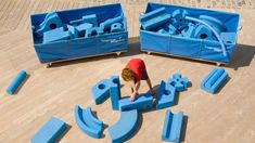 What if children built their own playgrounds?  Imagination Playground - Rockwell Group