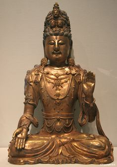 Antique Tibetan Bronze Figure Of Manjushri With His Shakti Agreeable Sweetness Other Asian Antiques