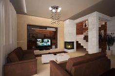 Kominek Flat Screen, Projects To Try, House Design, Interior Design, Fashion Design, Design Styles, Attic, Home Decor, Tv