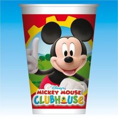 10 Disney Mickey Mouse Clubhouse Classic Plastic Party Cups #Disney #MickeyMouse #Birthday #Party #Supplies #Tableware #Decorations