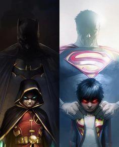 Batman Superman and sons