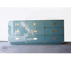 Campaign Dresser - 9-drawer – Built2Order Furniture w/Automotive Finishes (Your Choice of Color) by MiVidaVintageLA on Etsy https://www.etsy.com/listing/190176828/campaign-dresser-9-drawer-built2order