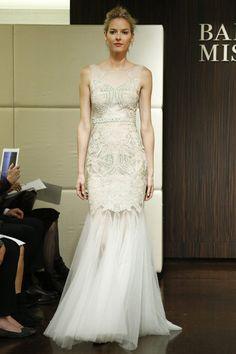 Beautiful embroidery and beading from Badgley Mischka - New York Bridal Fashion Week Fall 2013