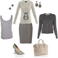 clear spring greys by sarah-louise-jones on Polyvore featuring moda, Burberry, Paul Smith, American Vintage, HUGO, Diane Von Furstenberg, Givenchy, Ileana Makri and Lido Pearls