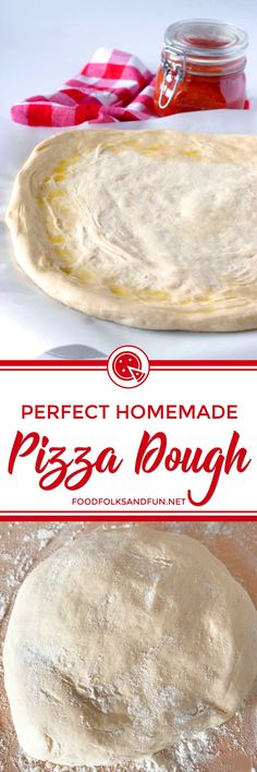 This Homemade Pizza Dough recipe makes the perfect pizza crust every time! It calls for basic pantry ingredients, it's freezer friendly and virtually fool-proof! Whether you mix the pizza dough in a stand mixer, food processor, or by hand, I've got you covered! | #pizza #homemadepizza #pizzacrust #pizzadough #comfortfood
