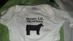Custom embroidered Show steer sheep pig goat by Blackhatlivestock, $13.00