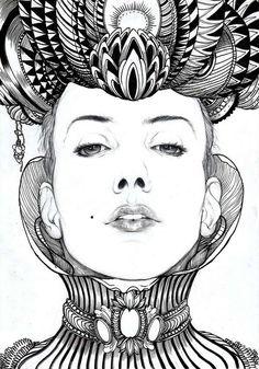 Surrealist Sketch Portraits: Iain Macarthur Portraits Transforms Ordinary into…