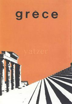 Freddy Carabott,poster for the Greek National Tourist organization, 1963. Looks like guns of navarone movie poster
