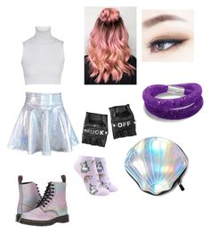 """""""BTS concert (girl in the group)"""" by tania-mika on Polyvore featuring moda, Dr. Martens, Funk Plus, Forever 21 y Circus by Sam Edelman"""