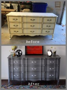 Patricia shares the painting and glazing techniques she used to transform this beautiful french provincial dresser.