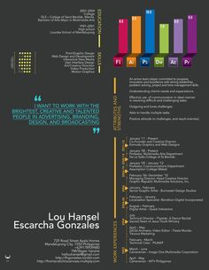 Resume 2012 by ~tenbiscuits (Lou Escarcha Gonzales) on deviantART