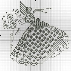 Blackwork Crinolene Lady