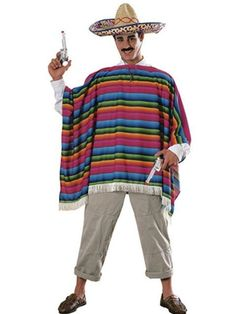 Check out Mexican Serape & Sombrero Costume - Mens International Costumes from Anytime Costumes