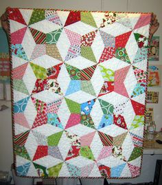 Christmas Quilt FINISHED! by Euphoria..., via Flickr