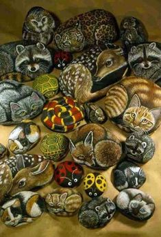 Easy Rock Painting Ideas - Animals