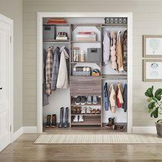 An entryway closet for the whole family #Entryway #HallCloset #HomeOrganization