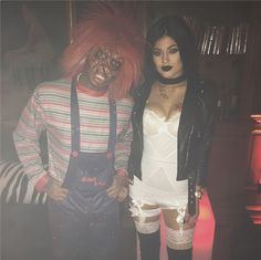 Kylie Jenner and Tyga went out together dressed as Chucky and The Bride of Chucky from the 1980's horror movie Child's Play.   - Seventeen.com