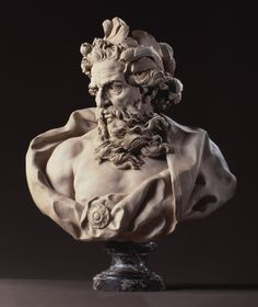 Lambert-Sigisbert Adam (1700-1759) | Neptune | 1725/27 | Terracotta on marble socle
